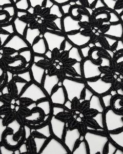 Guipure Lace Fabric - Floral Scroll