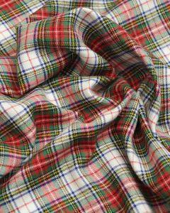 Brushed Cotton Fabric - Victoria Tartan