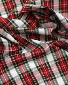 Cotton Fabric - Red & Black Tartan