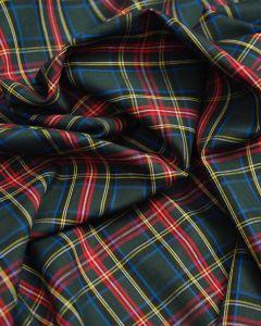 Cotton Fabric - Green & Red Tartan