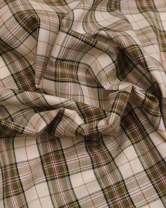 Cotton Fabric - Brown & Cream Tartan