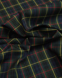 Cotton Fabric - Green Plaid