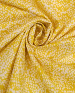 Cotton Fabric -  Yellow & White Speckle
