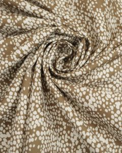 Cotton Poplin Fabric -  Brown & White Speckle
