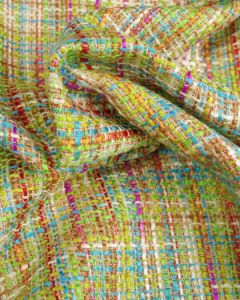 Polyester Tweed Fabric - Green Multi