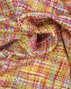 Polyester Tweed Fabric - Pink Multi