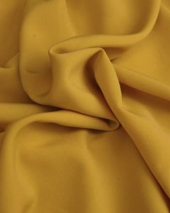 Luxury Crepe Fabric - Mustard Yellow