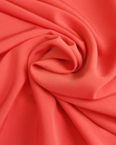 Luxury Crepe Fabric - Coral Pink