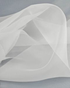 Polyester Crystal Organza Fabric - White