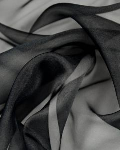 Polyester Crystal Organza Fabric - Black