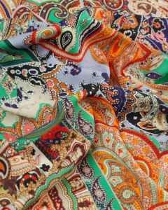 Polyester Crepe Fabric - Paisley Panel