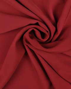 Luxury Crepe Fabric - Claret Red