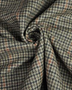 Wool Coating Fabric - Houndstooth Check