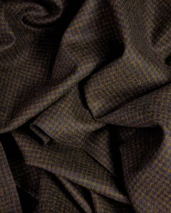 Wool Coating Fabric - Dark Brown Houndstooth