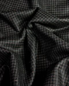Wool Coating Fabric - Brown & Black Houndstooth