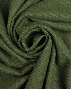 Wool Coating Fabric - Green Multi