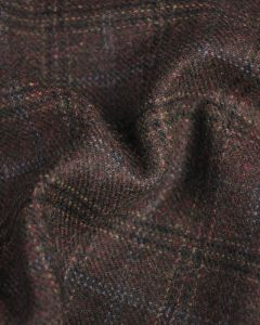 Wool Coating Fabric - Multi Brown Check