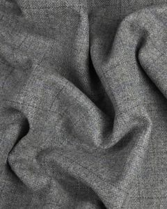 Wool Coating Fabric - Grey Check