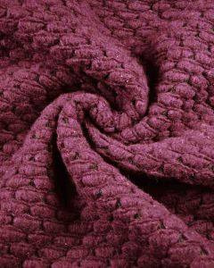 Crochet Topped Jersey Fabric - Plum Purple