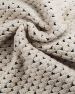 Crochet Topped Jersey Fabric - Ivory
