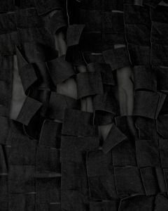 Embellished Georgette Fabric - Black Square