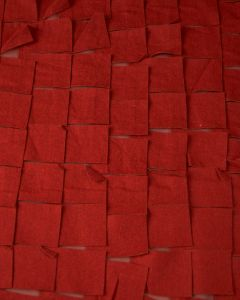 Embellished Georgette Fabric - Cherry Red Square