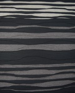 Viscose Blend Jersey Fabric - Black & Truffle Wave