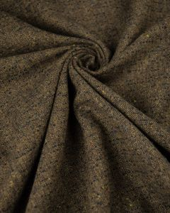REMNANT Brown Neppy Wool Fabric - 170cm x 150cm