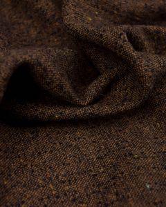 Wool Blend Suiting Fabric - Brown & Black Weave