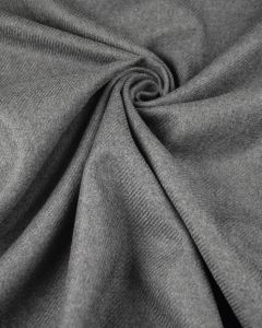 Pure Wool Twill Fabric - Mid Grey
