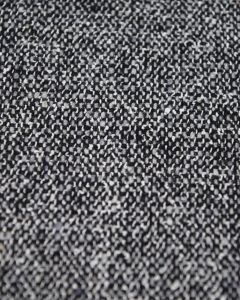 Wool Blend Suiting Fabric - Black & White Weave