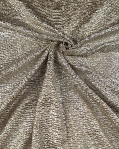 Polyester Crinkle Knit Fabric -  Gold