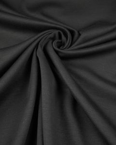 Wool Blend Jersey Fabric - Black