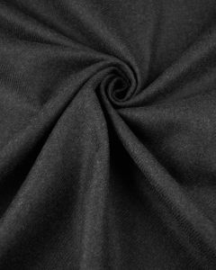 REMNANT Charcoal Wool Twill Fabric - 100cm x 145cm