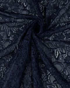 Corded Lace Fabric - Arabian Blue