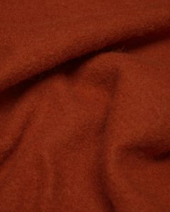 Boiled Pure Wool Jersey Fabric - Burnt Orange