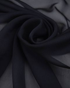 Polyester Chiffon Fabric - Navy Blue