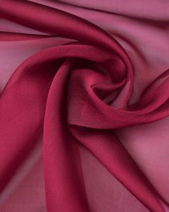 Shot Polyester Chiffon Fabric - Fuchsia