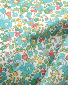 Liberty Tana Lawn Fabric - Betsy in Aqua