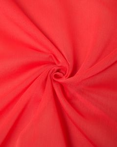 Polyester Chiffon Fabric - Hot Coral