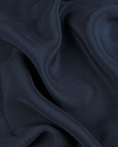 Pure Silk Crepe De Chine Fabric - Navy