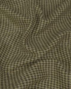 Wool Blend Coating Fabric - Houndstooth Beige