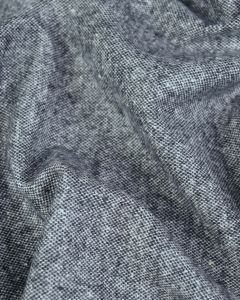 Wool & Silk Blend Suiting Fabric - Salt & Pepper
