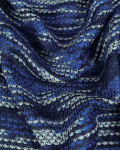 Double Jersey Fabric - Birdsfoot Blue
