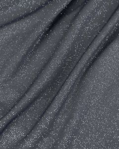 Polyester Jersey Fabric - Gunmetal Sparkle