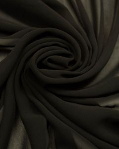 Luxury Polyester Chiffon Fabric - Black