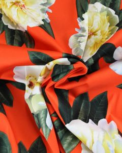 Cotton Sateen Fabric - Hot Summers Day