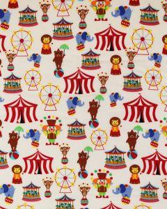 Cotton Poplin Fabric - Circus Time