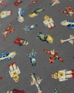 Cotton Poplin Fabric - Retro Toys