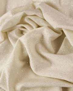 Polyester Jersey Fabric - Ivory Sparkle